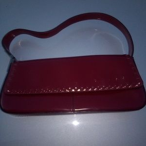 Vtg small Guess leather 90s red purse